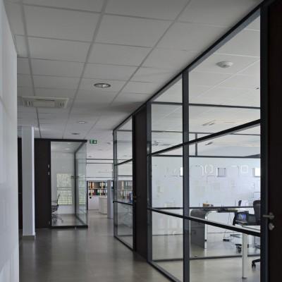 Cloison vitrée de bureau SRE STRASBOURG